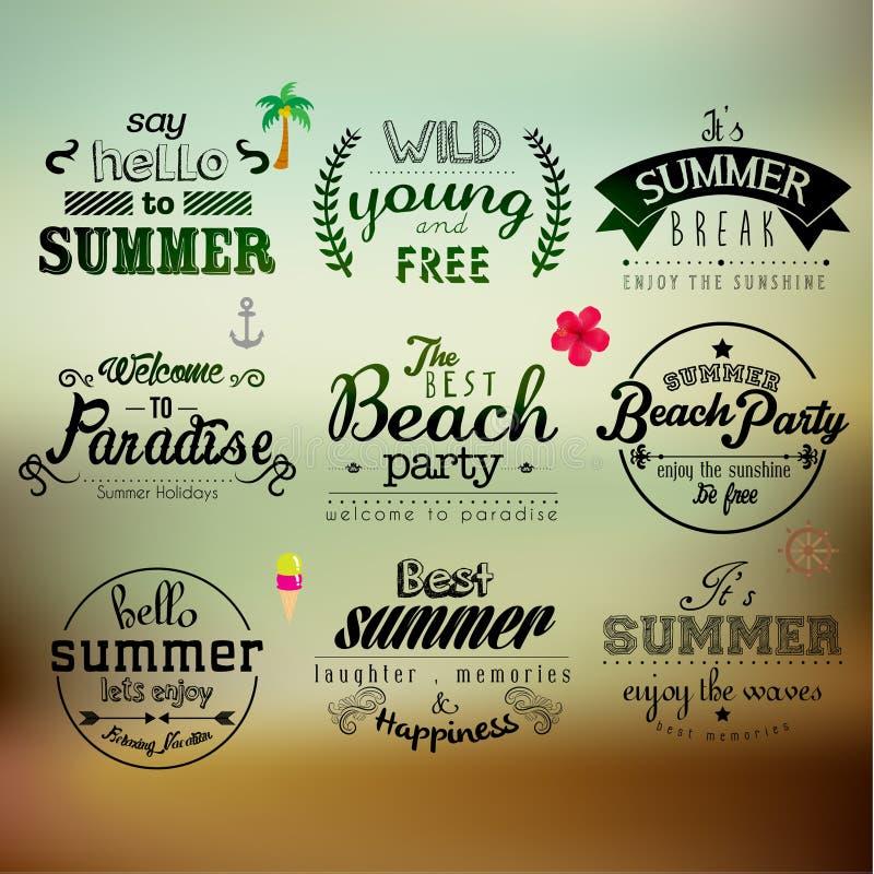 Typografia wakacje letni wycena Wektorowy projekt ilustracji