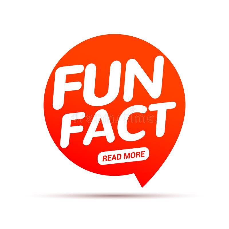 Typografibubbla för roligt faktum Visste du information om uttryck för meddelande för kunskapsdesigntext royaltyfri illustrationer