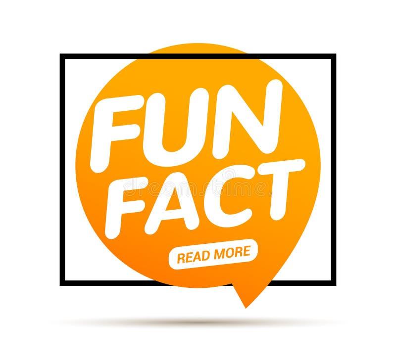 Typografibubbla f?r roligt faktum Visste du information om uttryck f?r meddelande f?r kunskapsdesigntext royaltyfri illustrationer