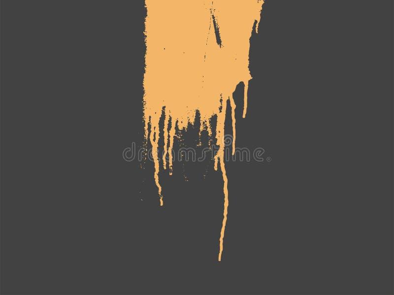 Typograficznego retro grunge abstrakcjonistyczny tło z obcieknięcie farbą również zwrócić corel ilustracji wektora royalty ilustracja