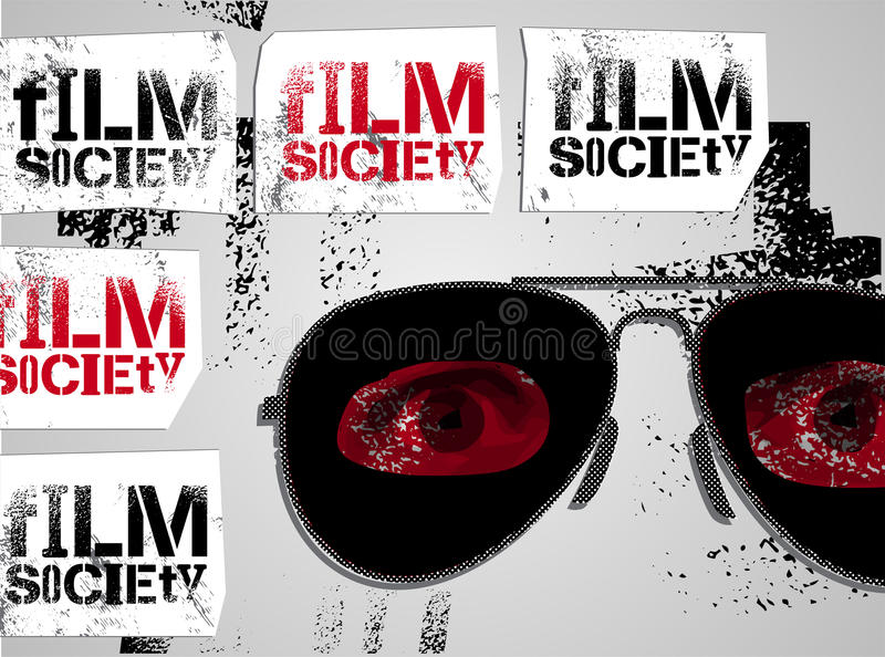 Typograficzny graffiti projekt dla Ekranowego społeczeństwa również zwrócić corel ilustracji wektora ilustracji