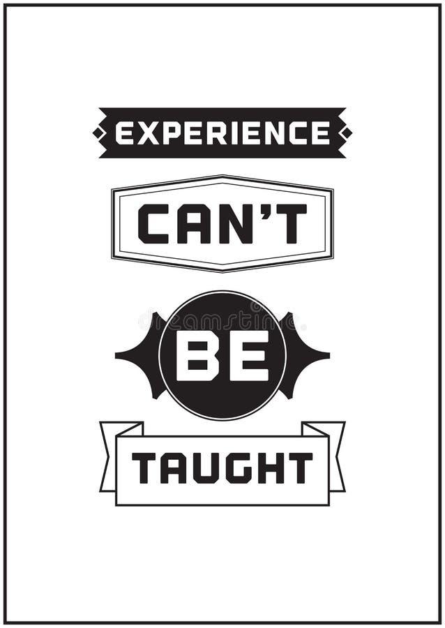 Typograficzny Plakatowy projekt - doświadczenie no może uczący ilustracji