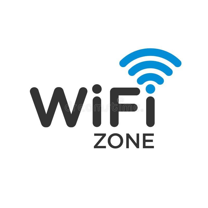 Typograficzny symbol WiFi interneta teren z fala sygnałem ilustracji