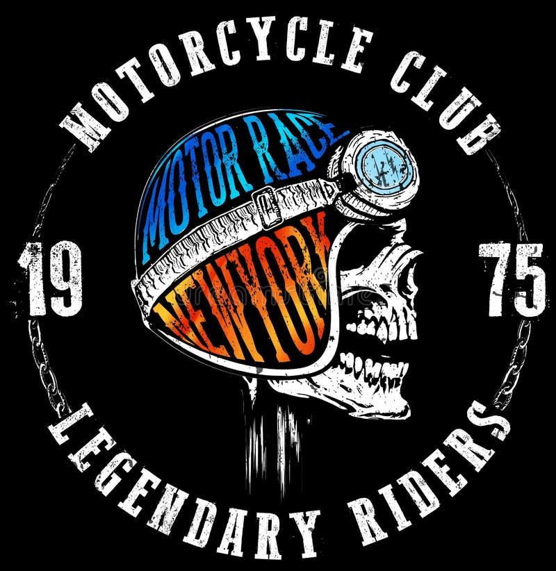 Typografidiagram och affisch för motorcykel tävlings- vektor illustrationer