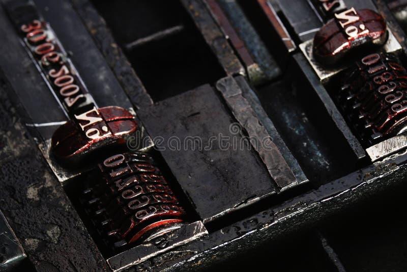 Typografie stock afbeelding