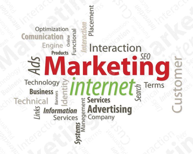 Typografie die Internet op de markt brengt vector illustratie