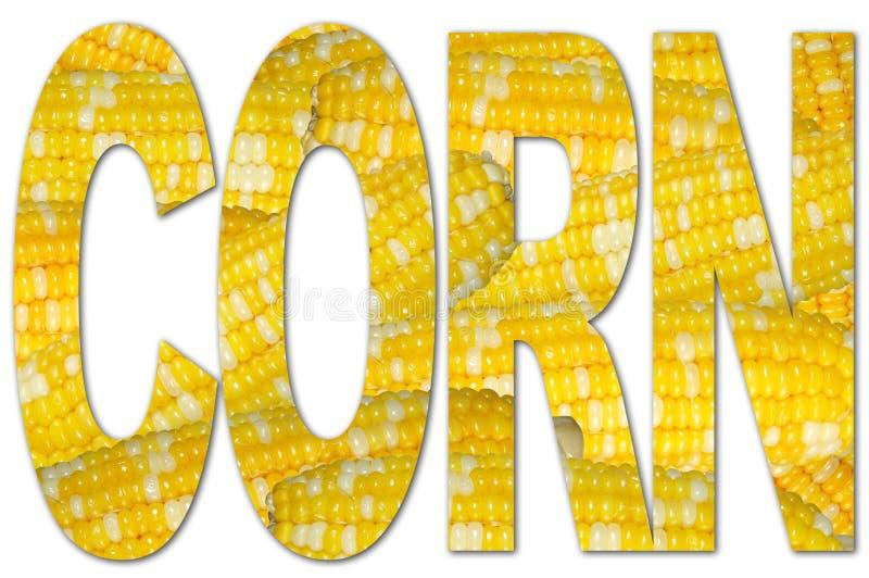 Typografie mit Mais-Beschaffenheit stock abbildung