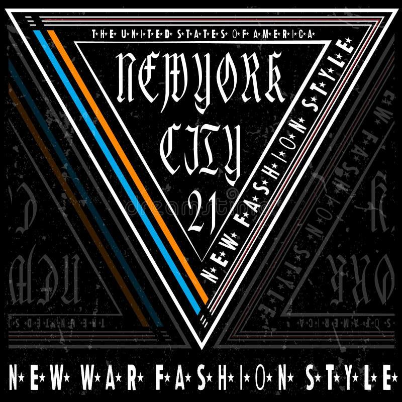 Typografie-New- Yorkt-stück Logo Design lizenzfreie abbildung