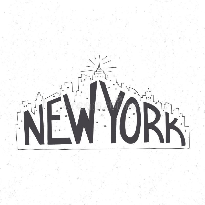 Typografieaffiche royalty-vrije illustratie