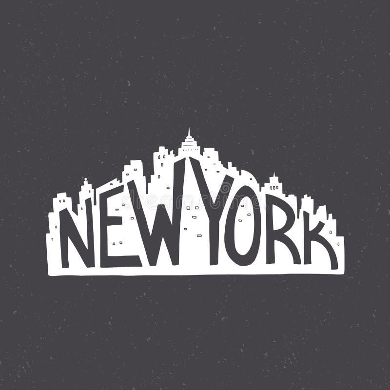 Typografieaffiche stock illustratie