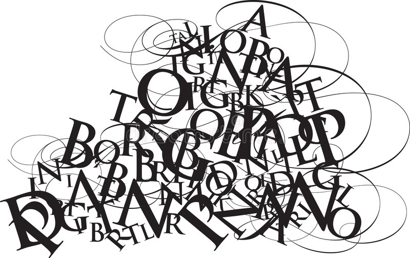 Typografiedurcheinander vektor abbildung
