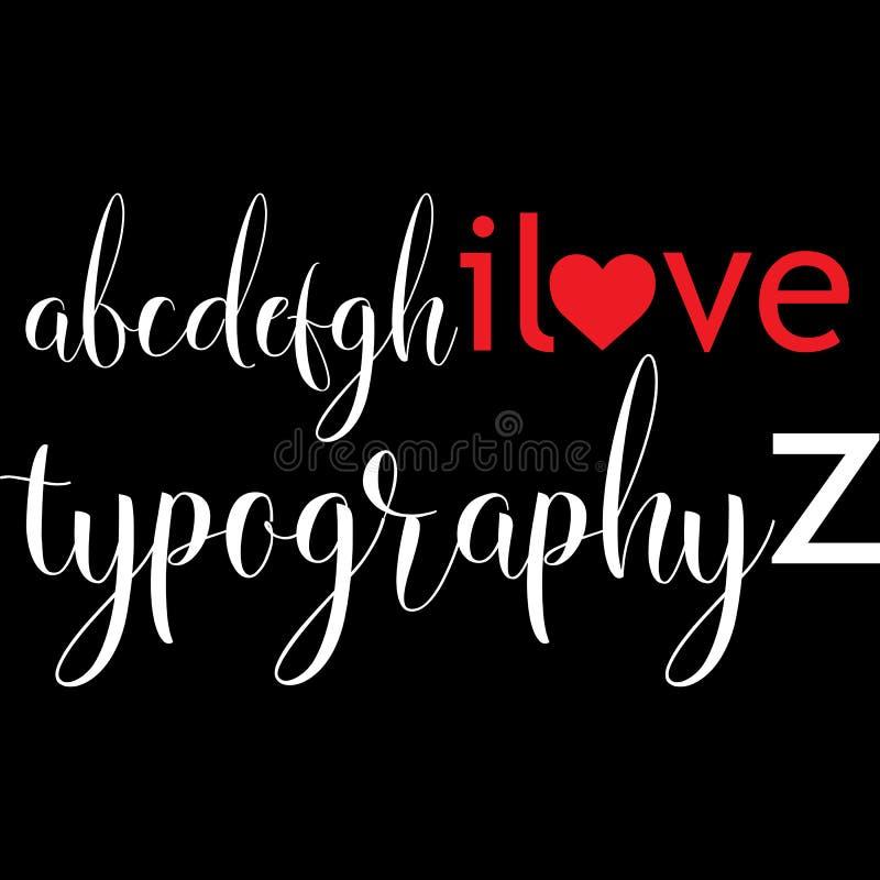 Typografii miłości trójnika projekt royalty ilustracja