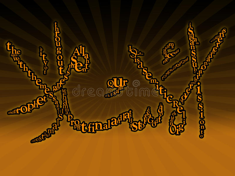 Typografisch Islamitisch behang royalty-vrije illustratie