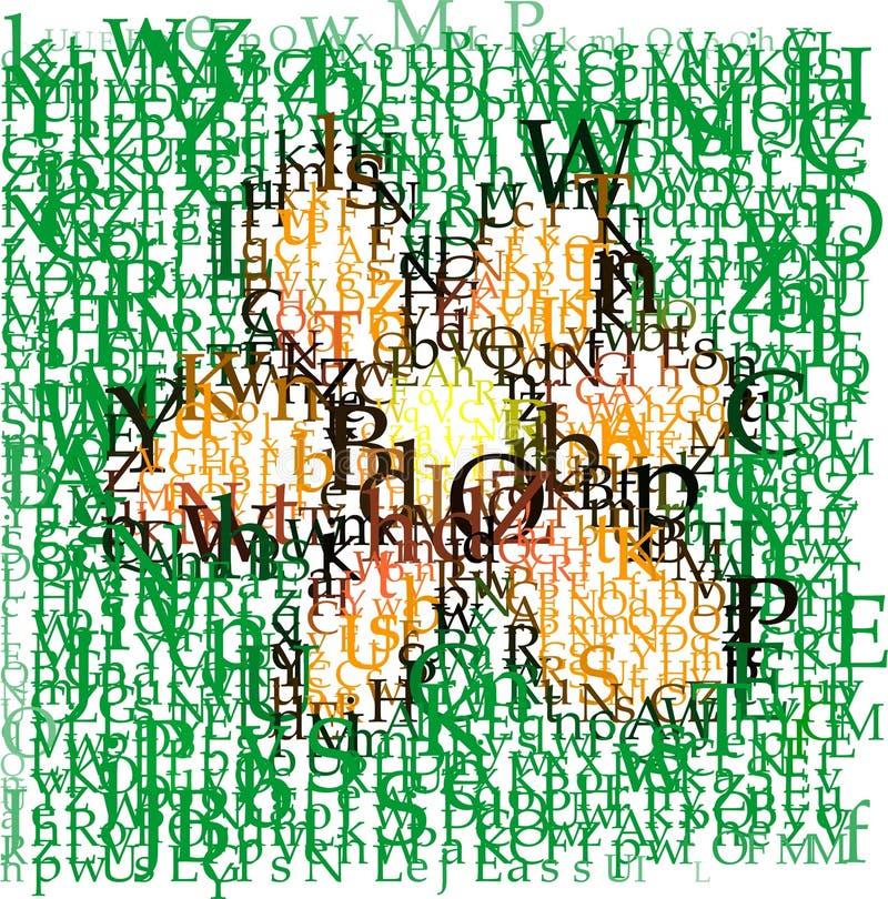 Typografische bloem vector illustratie