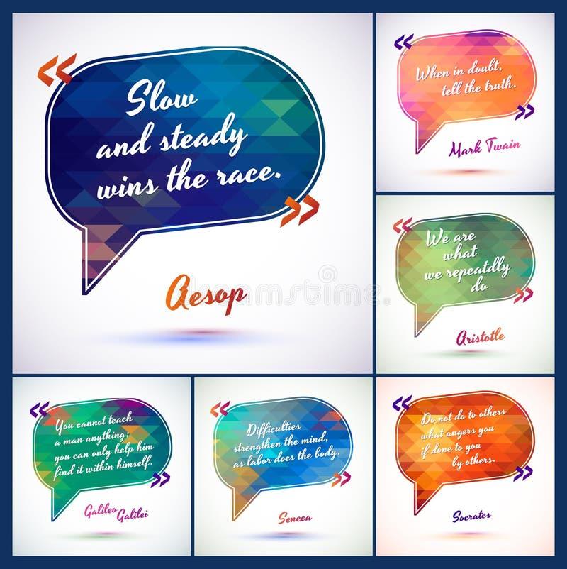 Typografische Hintergrund-Illustration mit Zitaten verpacken kluge Idee vom klugen, Motivierungsphrase stock abbildung