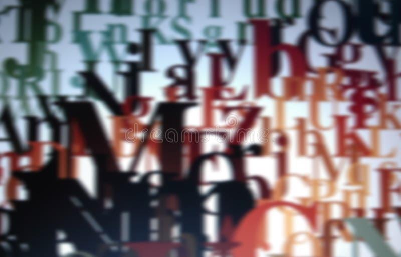 Typografischer Hintergrund stockbild