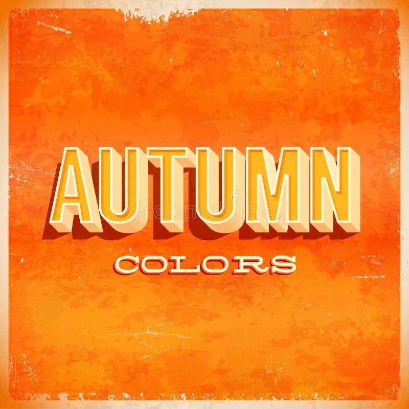 Typografisches Schmutzplakat des Herbstes vektor abbildung