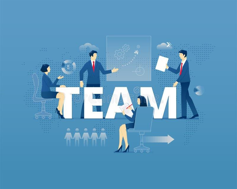 Typografisk affisch för teamwork vektor illustrationer