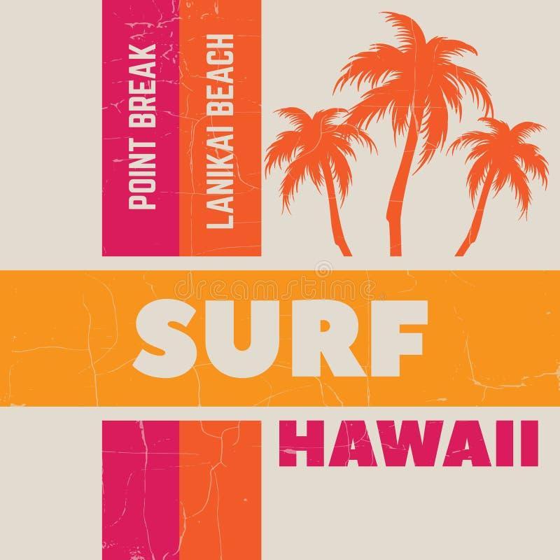 Typografisk bakgrund för idérikt citationstecken om att surfa royaltyfri illustrationer