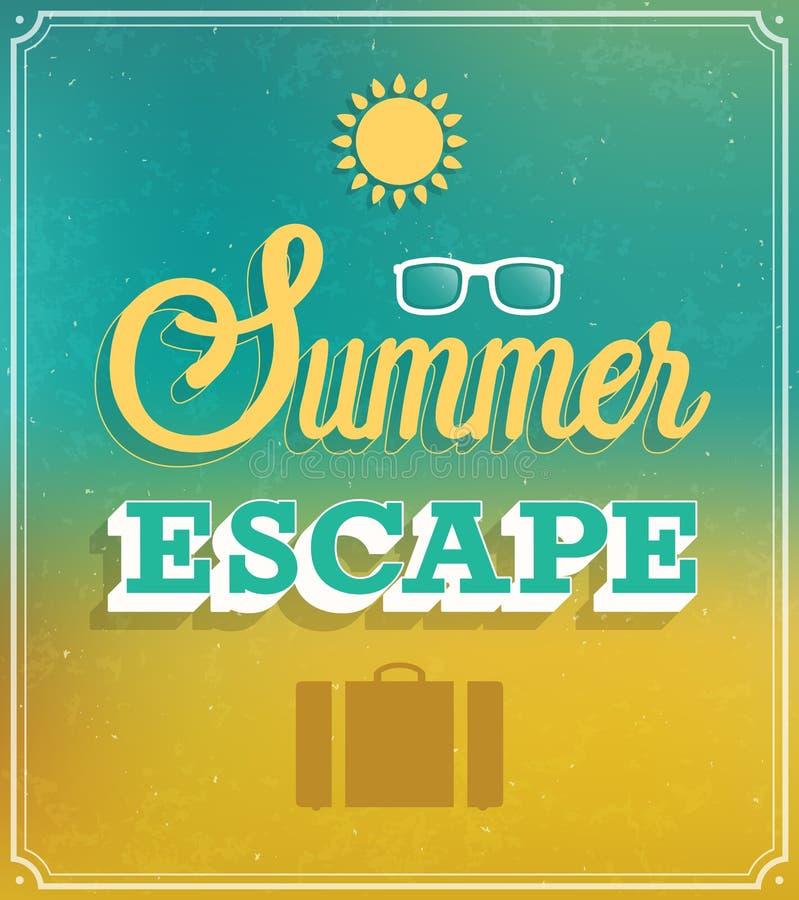Typografisk design för sommarflykt royaltyfri illustrationer
