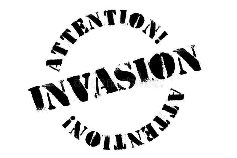 Typografisk stämpel för invasion vektor illustrationer