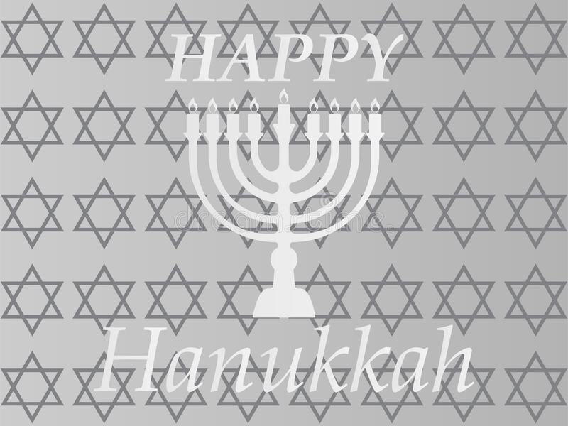 Typografisk vektordesign för Chanukkah - lycklig Chanukkah A stock illustrationer