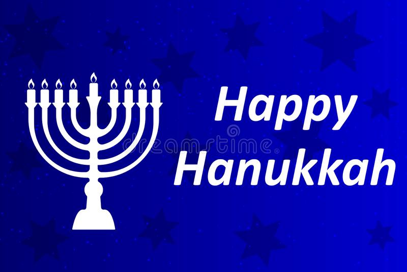 Typografisk vektordesign för Chanukkah - lycklig Chanukkah A vektor illustrationer