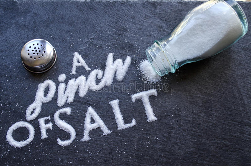 A Pinch of Salt stock photo Image of letters grain