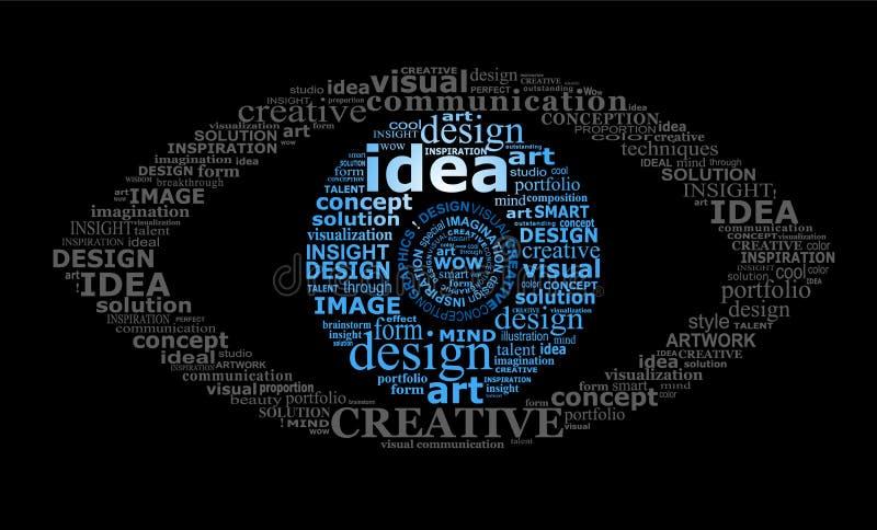Download Typographic eye stock image. Image of metaphor, idea - 26110741