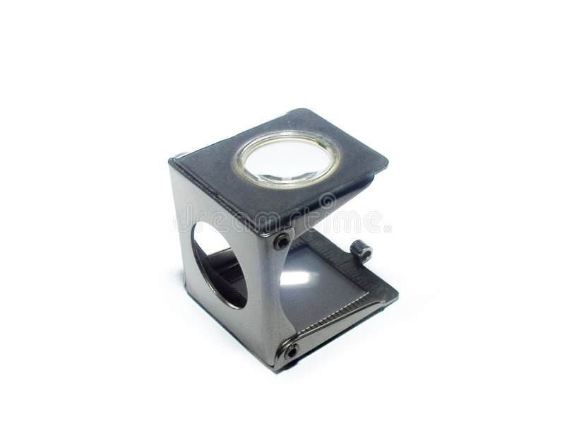 Typographic Magnifier - Thread Counter royalty free stock image