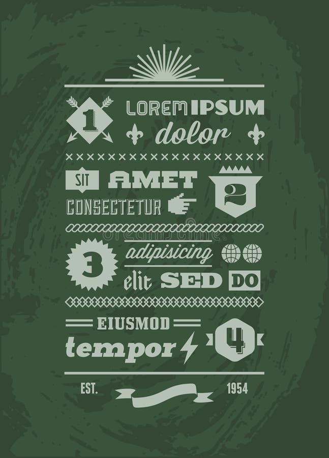 Download Typographic typographic stock vector. Illustration of label - 30714006
