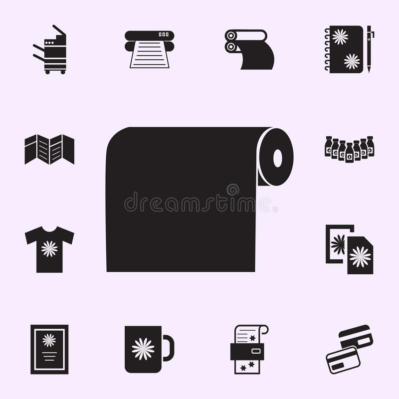 typographical paper icon. Print house icons universal set for web and mobile stock illustration