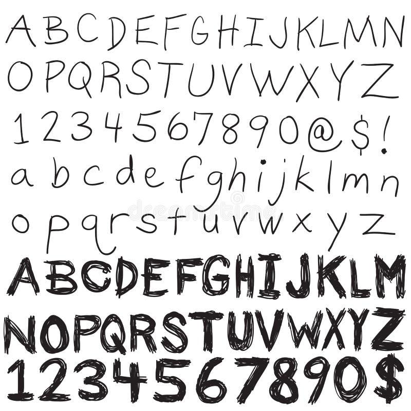 Typographie écrite par main illustration libre de droits
