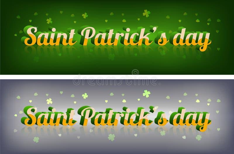 Typographie élégante irlandaise de jour de St Patrick images stock