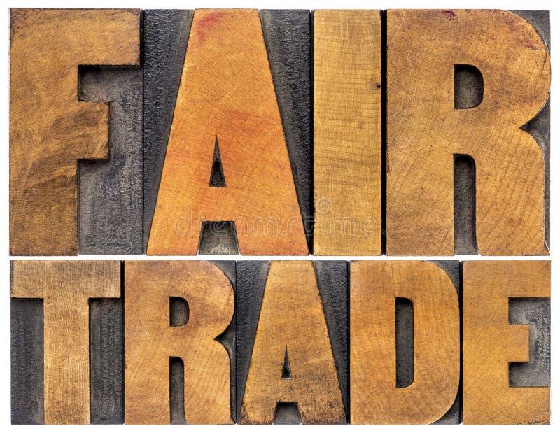 Typographie de commerce équitable photo libre de droits