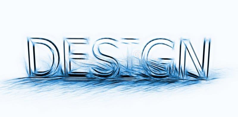 Typographie de conception illustration libre de droits