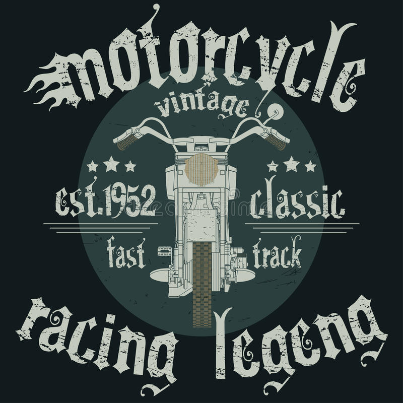 Typographie de emballage de moto illustration libre de droits