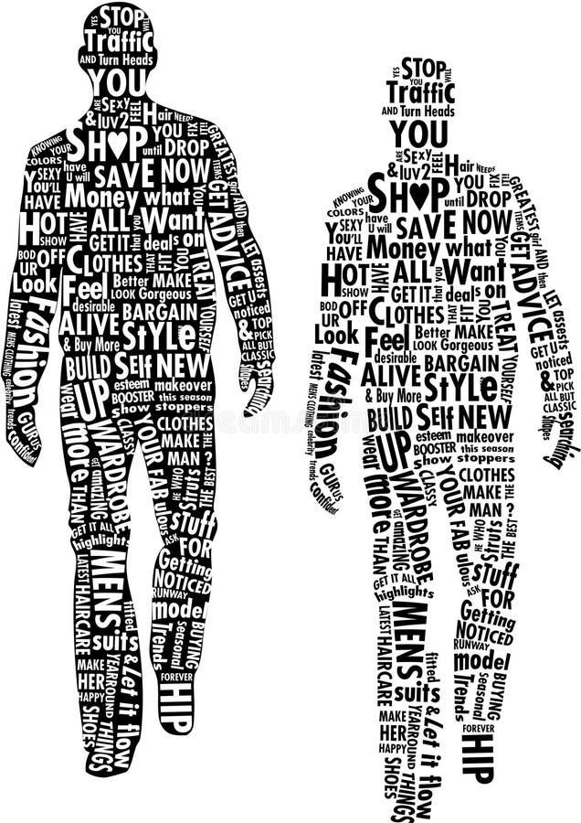 Typographie de Mens de mode
