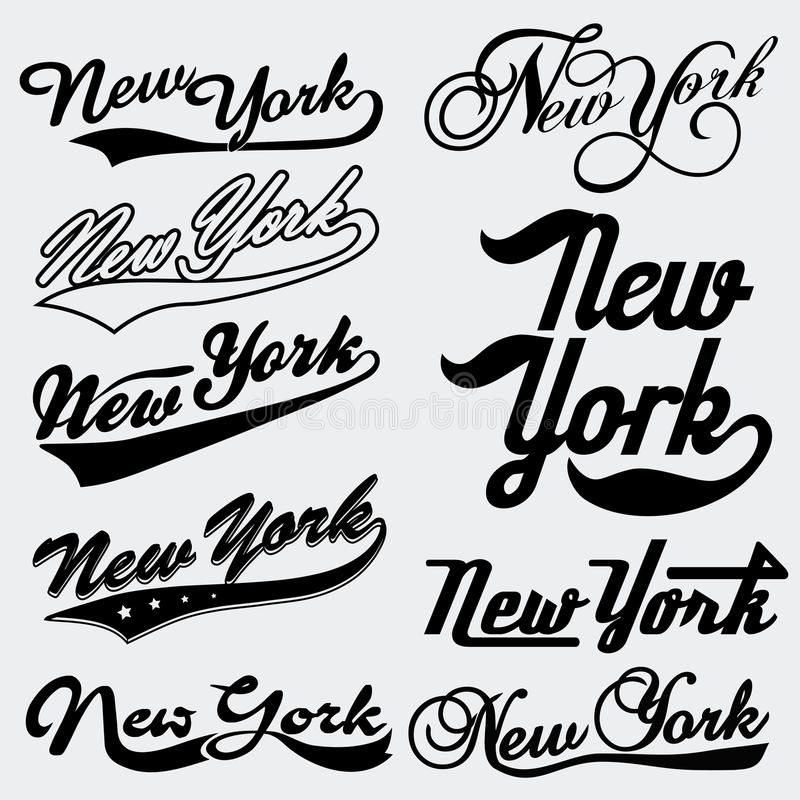 Typographie de New York illustration stock