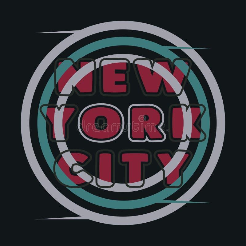 Typographie de New York, T-shirt NY, graphique de conception photos libres de droits