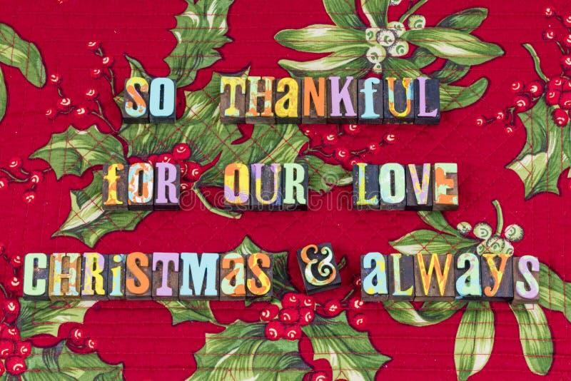Typographie de Noël d'espoir de joie d'amour de relations photo libre de droits