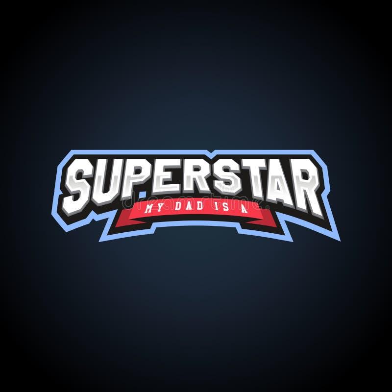 Typographie de puissance de superstar pleine, graphiques de T-shirt, illustration libre de droits