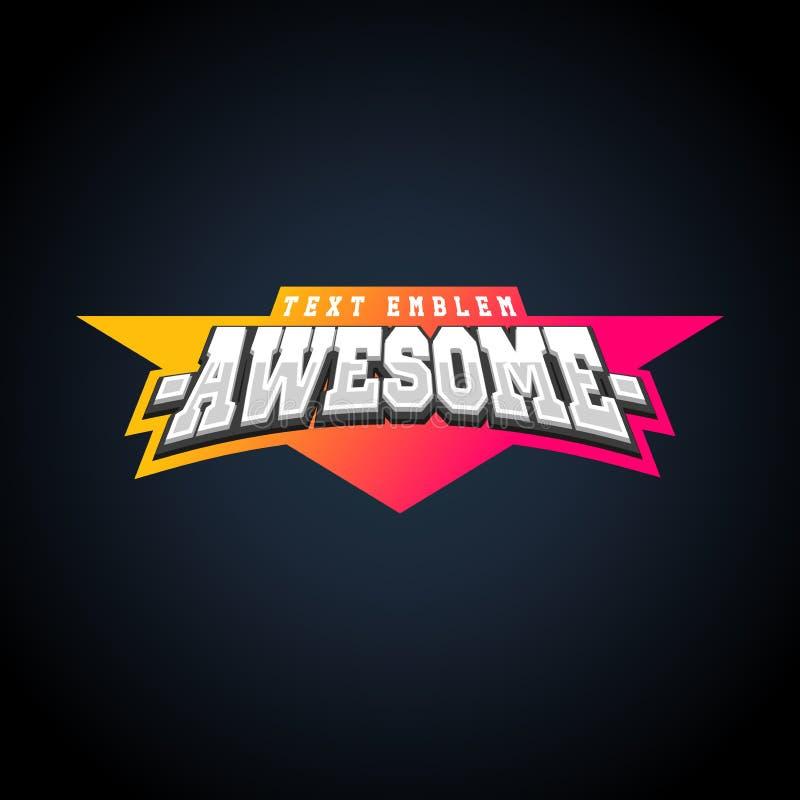 Typographie de puissance de superstar pleine, graphiques de T-shirt Rétro emblème des textes de sport impressionnant illustration libre de droits