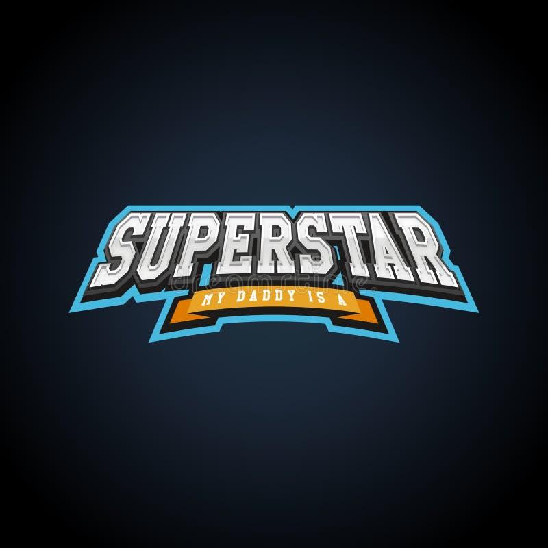 Typographie de puissance de superstar pleine, graphiques de T-shirt, vecteurs illustration libre de droits