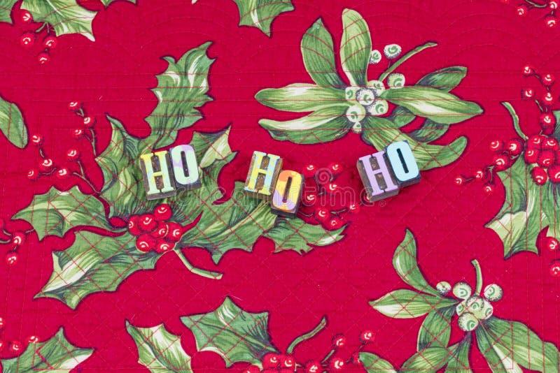 Typographie de rire de salutation de Ho Merry Christmas photographie stock libre de droits