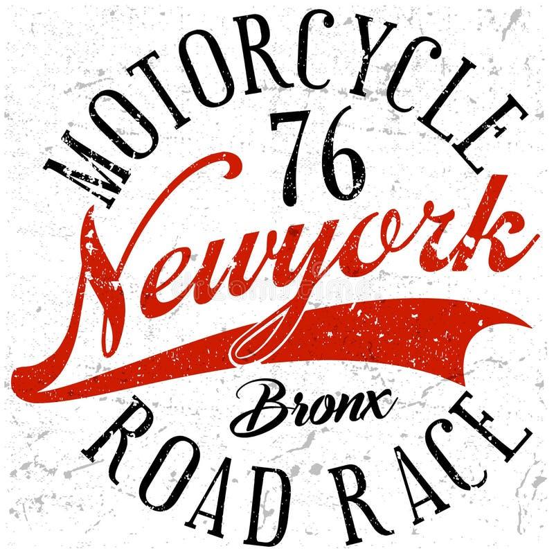 Typographie de sport de Bronx New York ; graphiques de T-shirt ; vecteurs illustration libre de droits