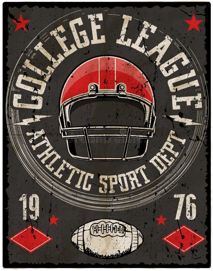 Typographie de sport du football ; graphiques de T-shirt ; vecteurs illustration libre de droits
