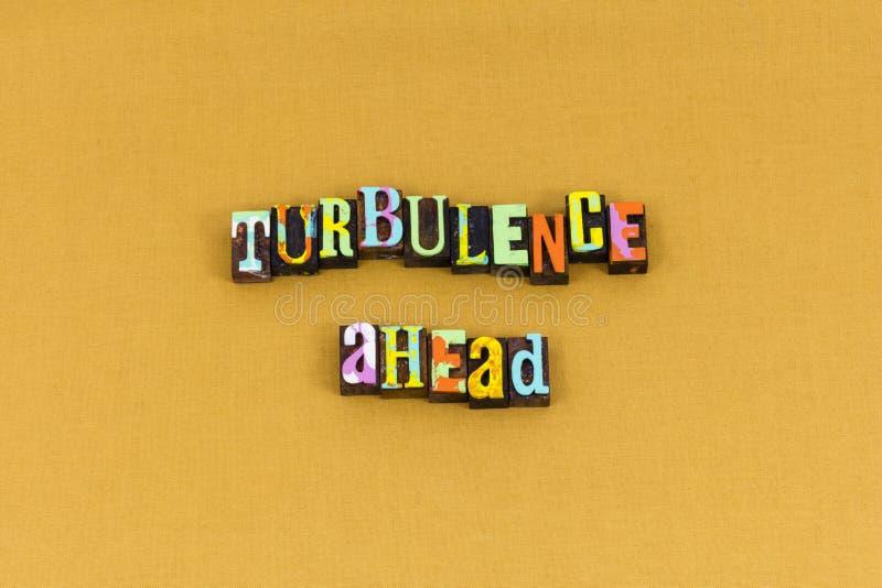 Typographie de succès de défi de turbulence de difficulté en avant photos libres de droits