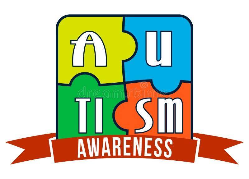Typographie de T-shirt de conscience d'autisme, vecteur illustration de vecteur