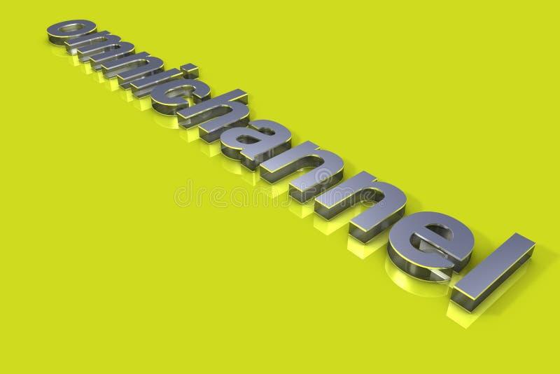 Typographie du concept 3D d'Omnichannel photographie stock libre de droits